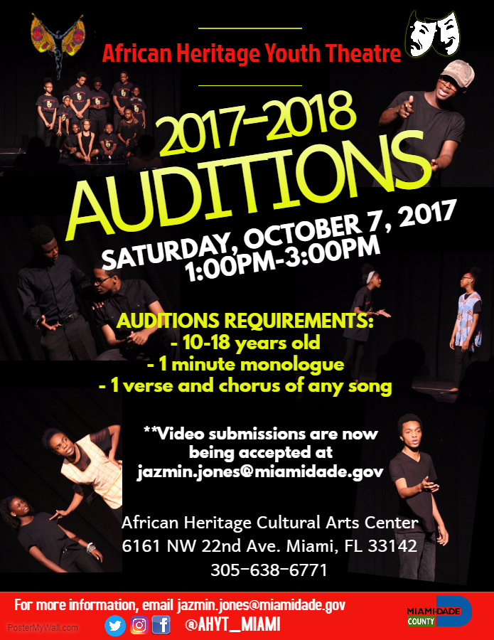 AHYT AUDITION UPDATE 2017