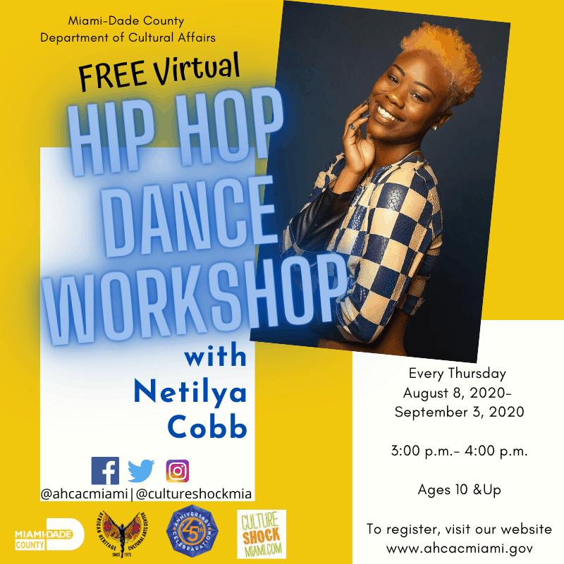 Hip Hop Dance Workshop Flyer with Netilya Cobb